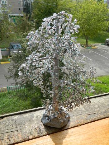 Деревья и цветы дерево из бисера